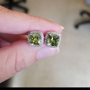 Jewelry - Peridot Halo earrings